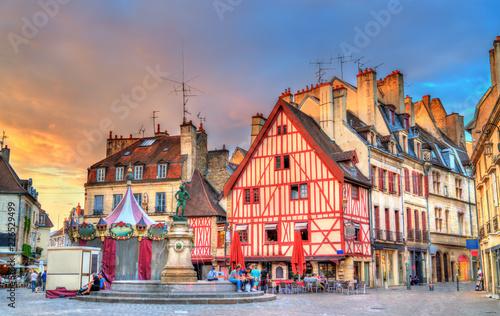 Leinwandbild Motiv Traditional buildings in the Old Town of Dijon, France