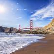 Quadro Golden Gate Bridge with Sun Flare