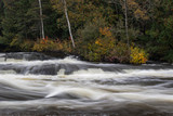colorful autumn waterfall