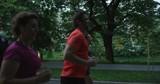 Joggers running at morning in city park - 226547421