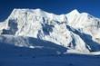 Leinwandbild Motiv Annapurna 3 III blue colored, Annapurna range
