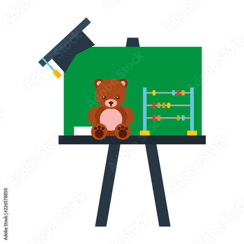 preschool chalkboard bear abacus toy