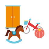 rocking horse bicycle ball toy kid