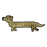 cartoon doodle dachshund
