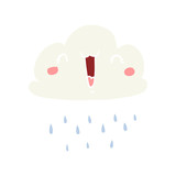 flat color style cartoon storm cloud - 226581292