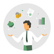 Accounter balance finansial icons. Accounitg and audit concept. Modern colorful design. Vector illustration - 226585825
