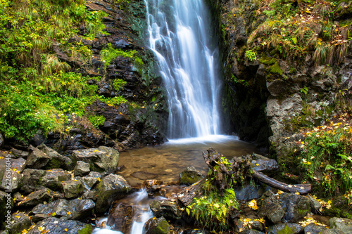 Long exposure of a waterfall in Black Forest, Germany - 226586045