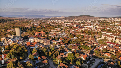 Aerial view of Hunedoara, Tovn in Transylvania, Romania. - 226596848
