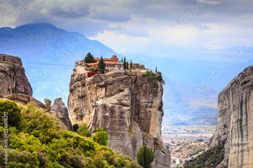 Leinwanddruck Bild Monastery of the Holy Trinity i in Meteora, Greece