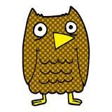 funny cartoon doodle owl