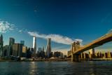 Blick auf Down Town über East River