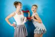 Quadro Women presenting high heels shoes