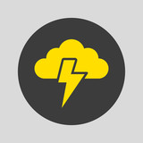 Storm icon on gray background. - 226622053