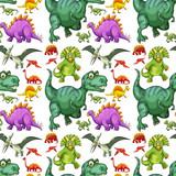 Various types of dinosaur seamless pattern - 226638021