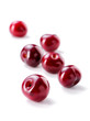 cherrie fruit group   close-up scattered on white background   - 226643605