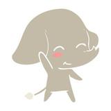 cute flat color style cartoon elephant