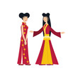group of women chinese avatar character