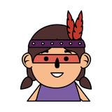 thanksgiving indigenus girl character - 226660215