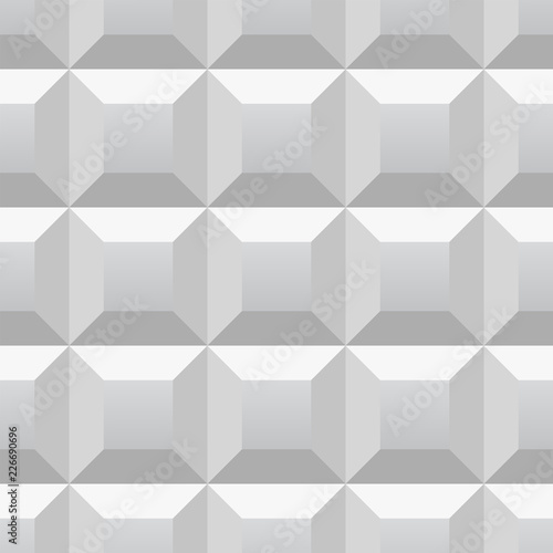 3d geometric pattern. Abstract gray seamless background