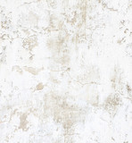 White concrete wall with peeling paint. Grunge background. - 226694643