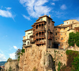 The Casas Colgadas ( Hanging Houses). Hanging Houses in the medieval town of Cuenca, Castilla La Mancha, Spain. - 226694856