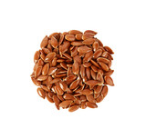 Pile of flax seed isolated on the white background - 226695014