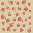 porcupine cute animal cartoon pattern background - 226703096