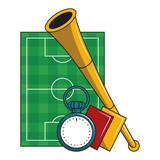 Soccer sport game cartoons - 226706694
