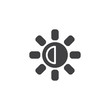 Brightness and contrast button vector icon. filled flat sign for mobile concept and web design. designer utility simple solid icon. Symbol, logo illustration. Pixel perfect vector graphics