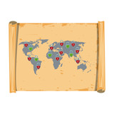 World vintage map - 226713468