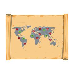 World vintage map