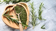 Dried rosemary with fresh rosemary twigs - 226723874