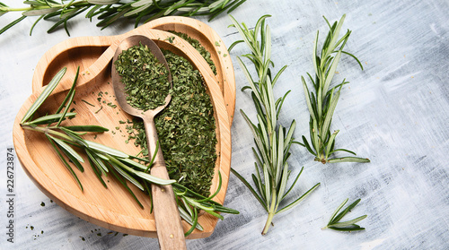 Sticker Dried rosemary with fresh rosemary twigs