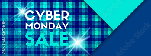 Cyber monday sale vector banner template