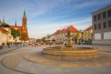 Kosciusko Main Square with Basilica in Bialystok, Poland.