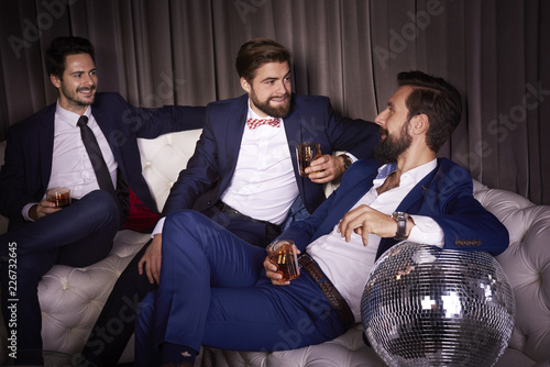 Male friends celebrating new year's eve
