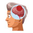 Old man alzheimer brain