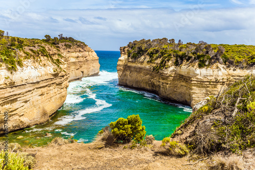 Fototapeta Rocks are composed of sandstone