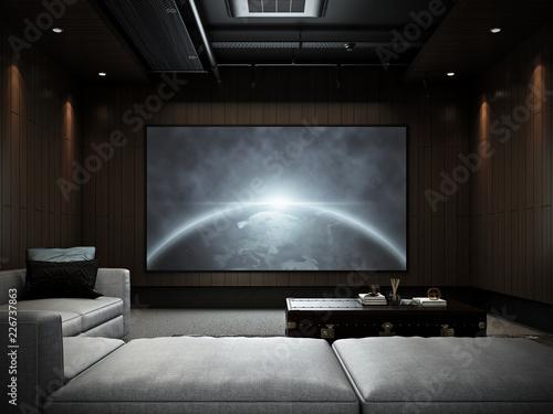 Modern Luxury Home Theater room #2 , 3D render
