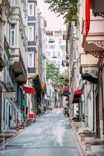 Istanbul Streets and Old Apartments
