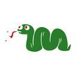 cartoon doodle snake - 226748279