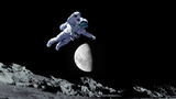 astronaut outer space.moon.space.elements of this image furnished by NASA - 226758873