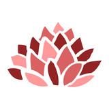 cartoon doodle flowering lotus