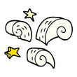 cartoon doodle decorative spiral element