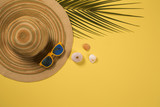 Summer vacation concept flat lay. Beach accessories top view. Space for text. travel - 226767205