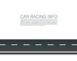 Paved path on the road, Curved road markings, Road leader info , Vector background