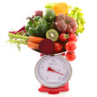 Quadro raw fruit and vegetable, diet concept