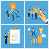Business teamwork set. Collection of people working in team - 226777627