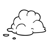line drawing cartoon storm cloud - 226789070