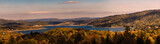 Beautiful panorama of Lake Solina at sunset. Bieszczady, Poland.